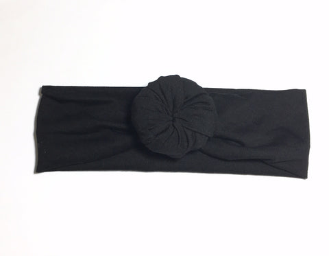 Bun Headband - Black - Size Regular