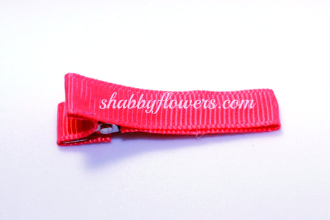 Lined Clip in Hot Pink