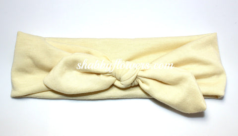 Knot Headband in Cream - Regular
