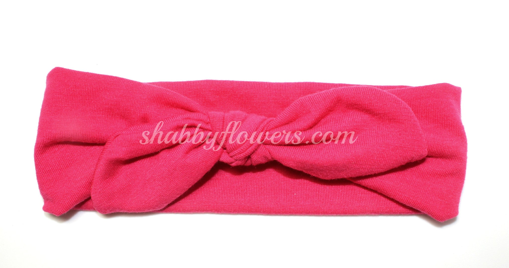 Knot Headband in Hot Pink - Regular - shabbyflowers.com