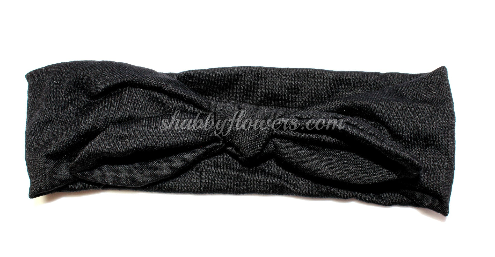 Knot Headband in Black - Regular - shabbyflowers.com