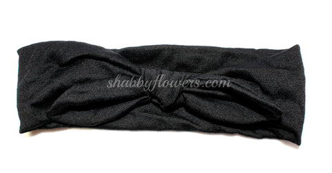 Knot Headband - Black - Small