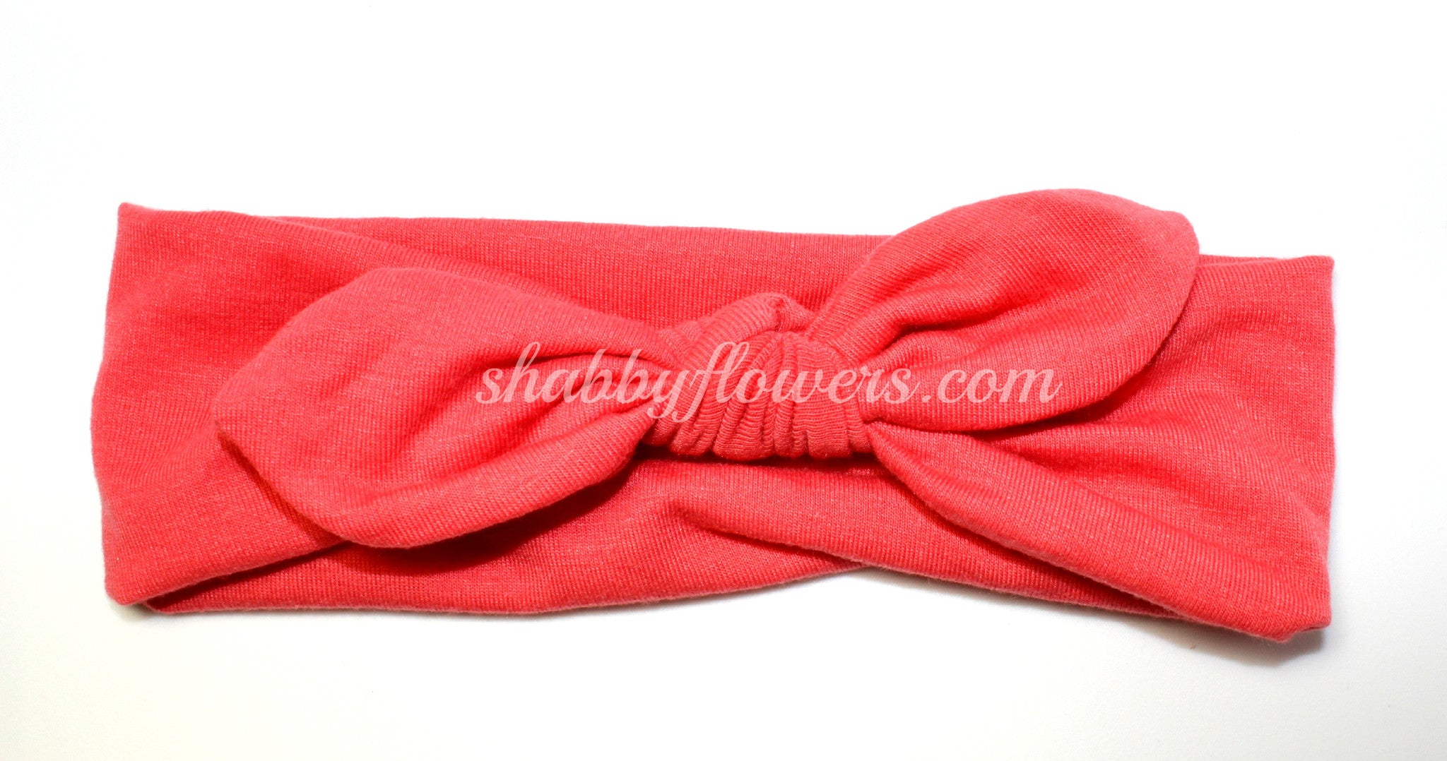 Knot Headband in Dark Coral - Regular - shabbyflowers.com