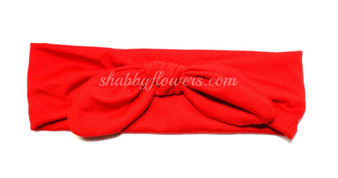 Knot Headband in Red- Small