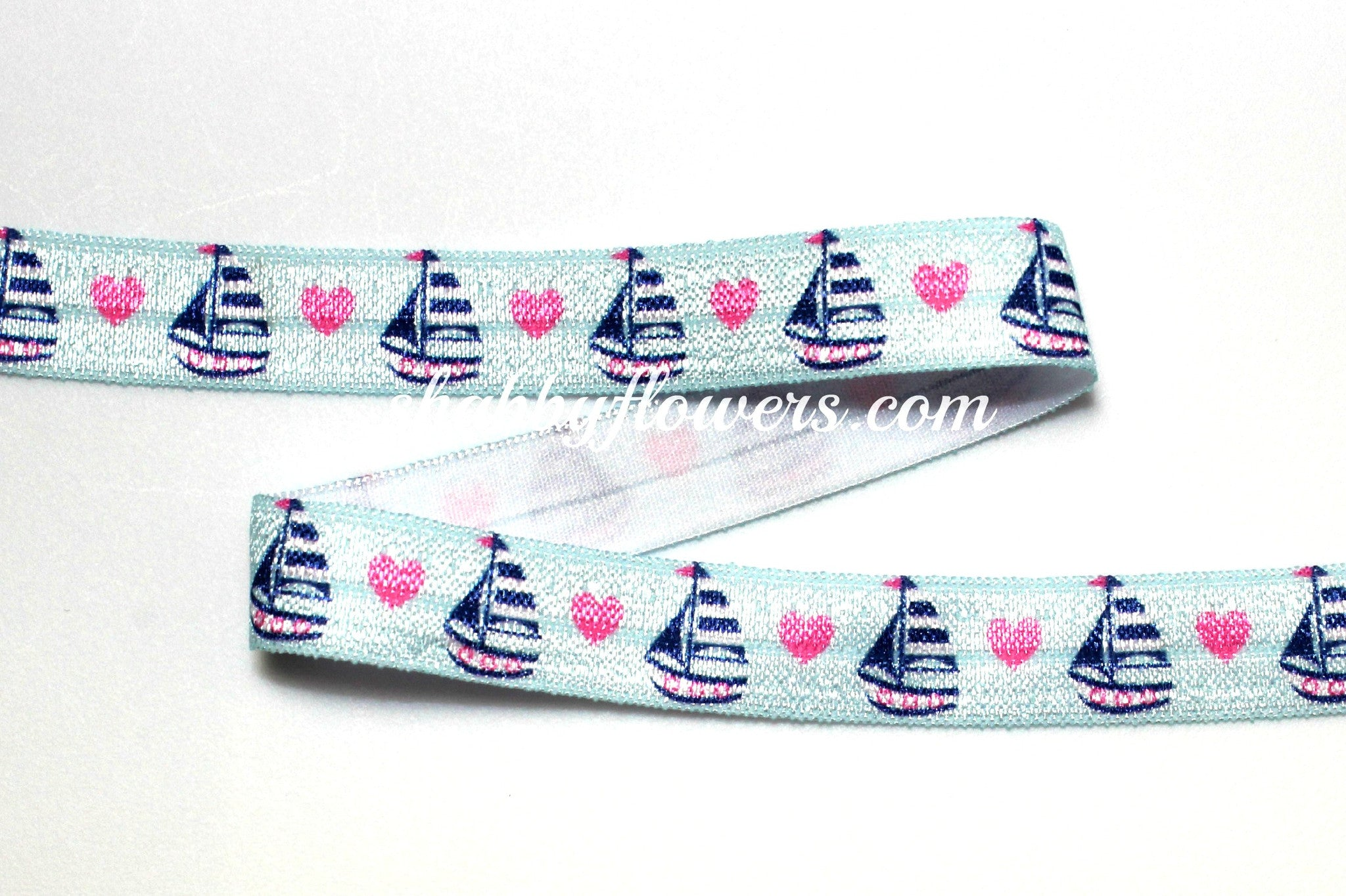 Elastic - Sailboat - shabbyflowers.com