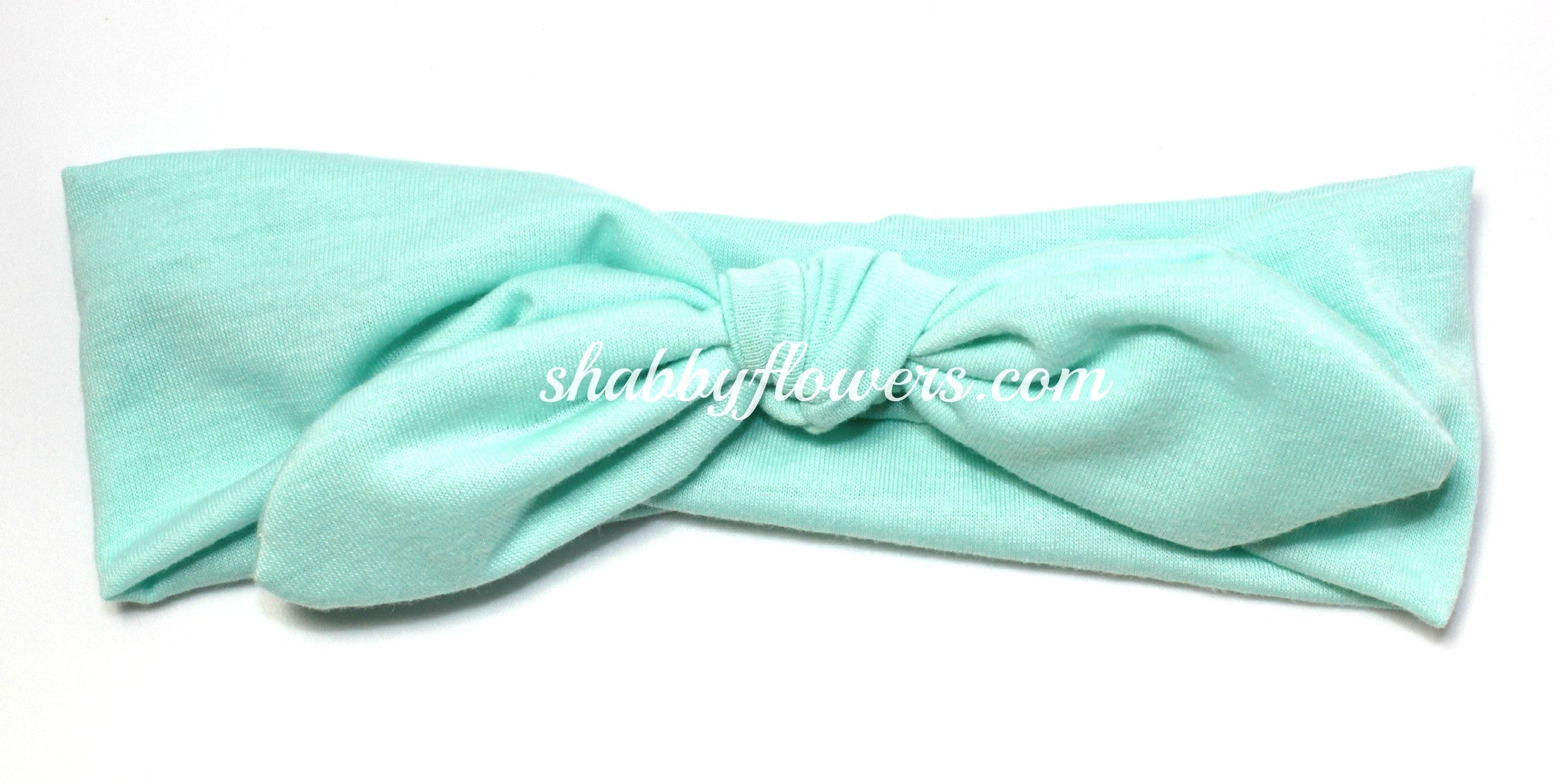 Knot Headband in Aqua - Regular - shabbyflowers.com