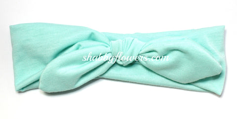 Knot Headband - Aqua - Small