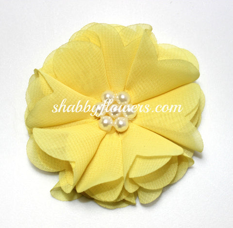 Chiffon Pearl Flower - Pale Yellow