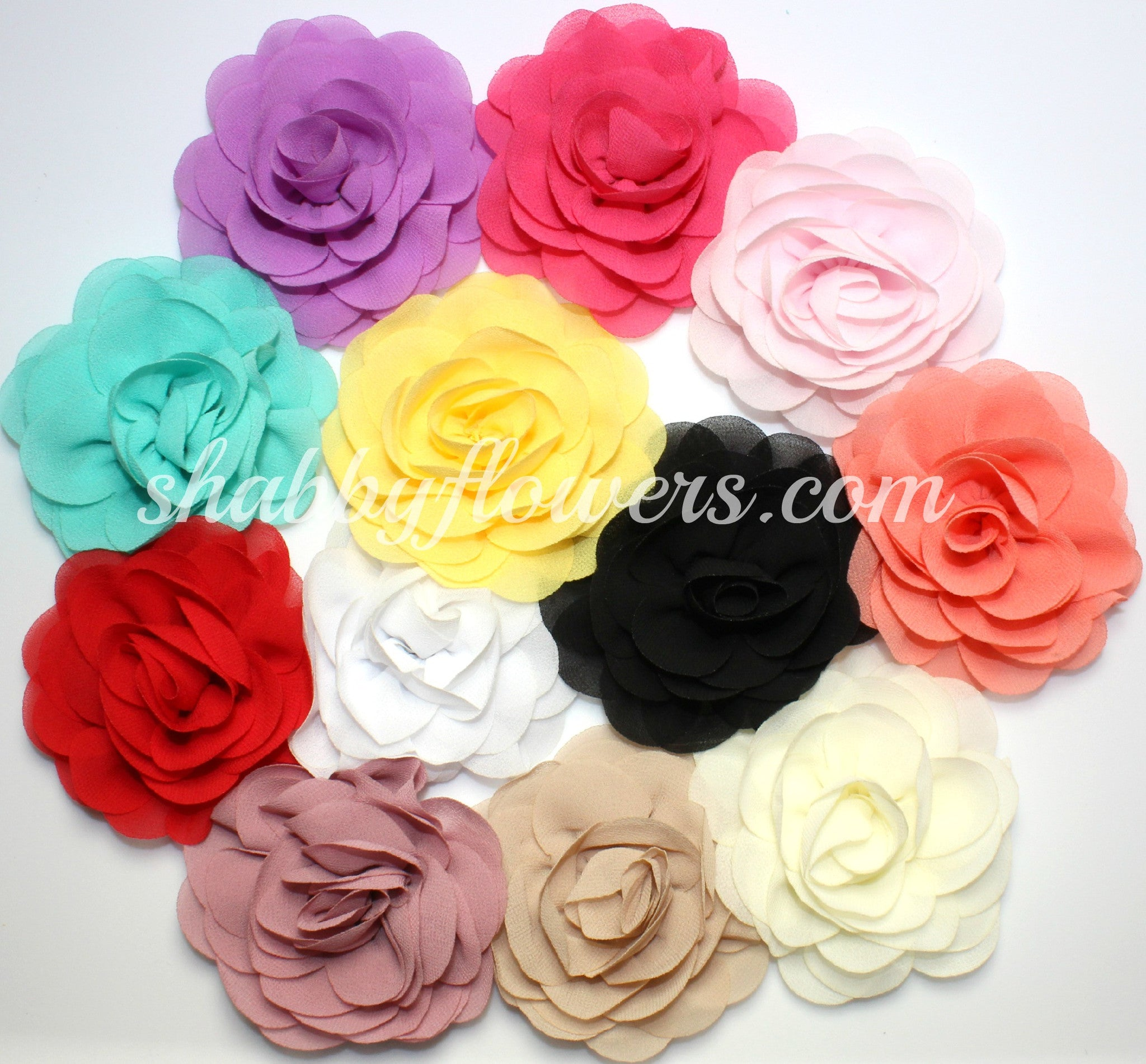 Rose Flower Pack of 12 - shabbyflowers.com