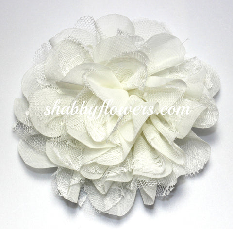 Chiffon and Lace Flower - Ivory