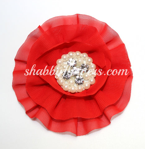 Jeweled Flower - Red