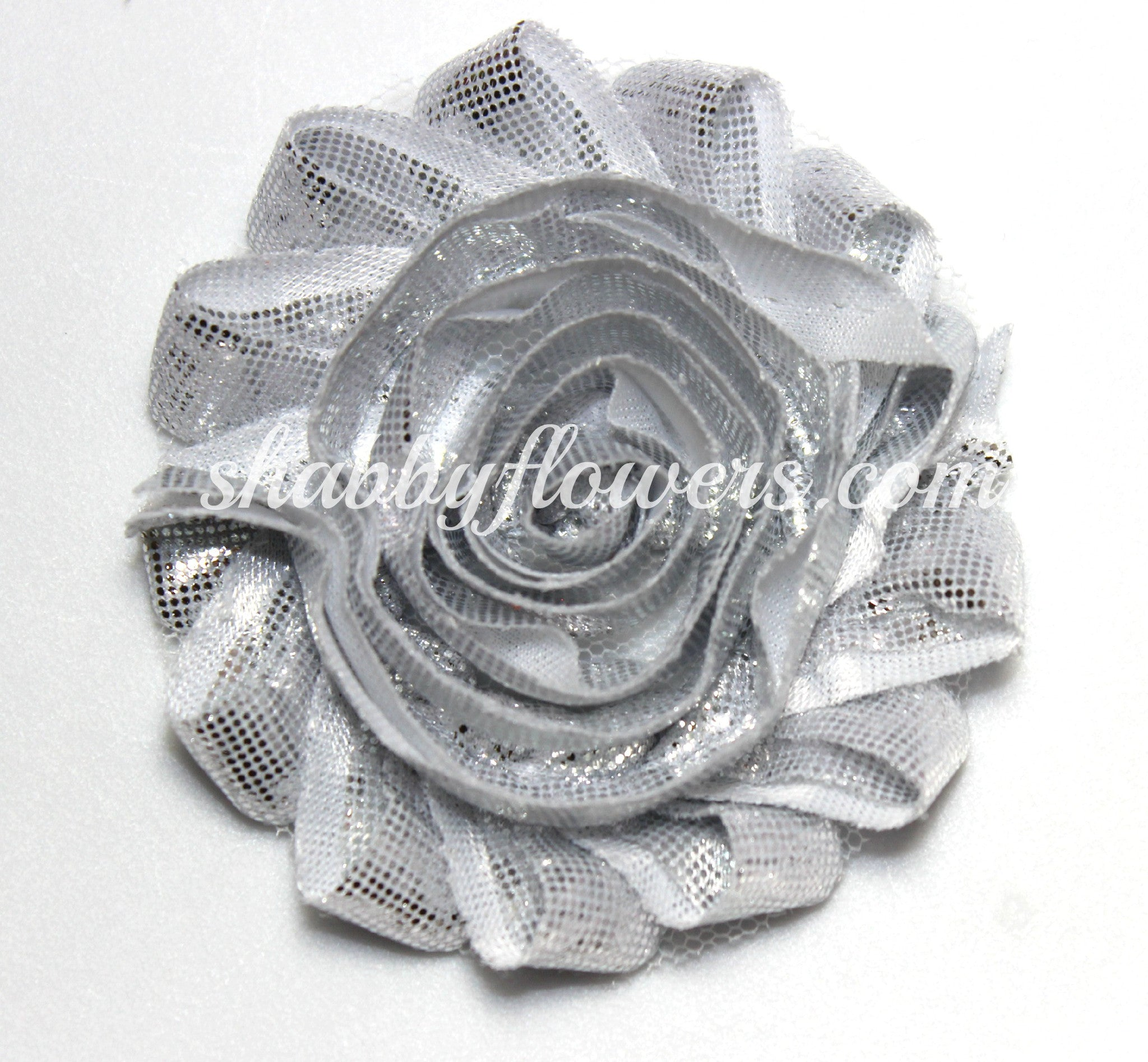 Shabby Flower - Metallic Silver - shabbyflowers.com