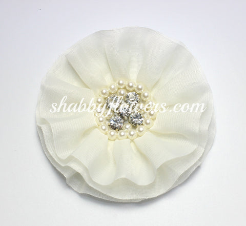 Jeweled Flower - Ivory