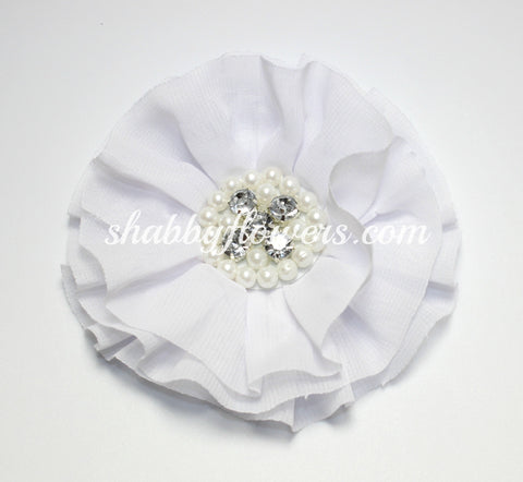 Jeweled Flower - White