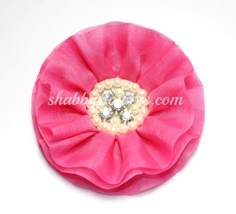 Jeweled Flower - Hot Pink