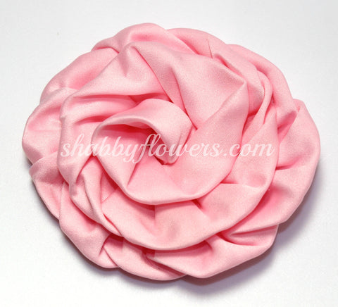 Ruffle Rosette- Light Pink