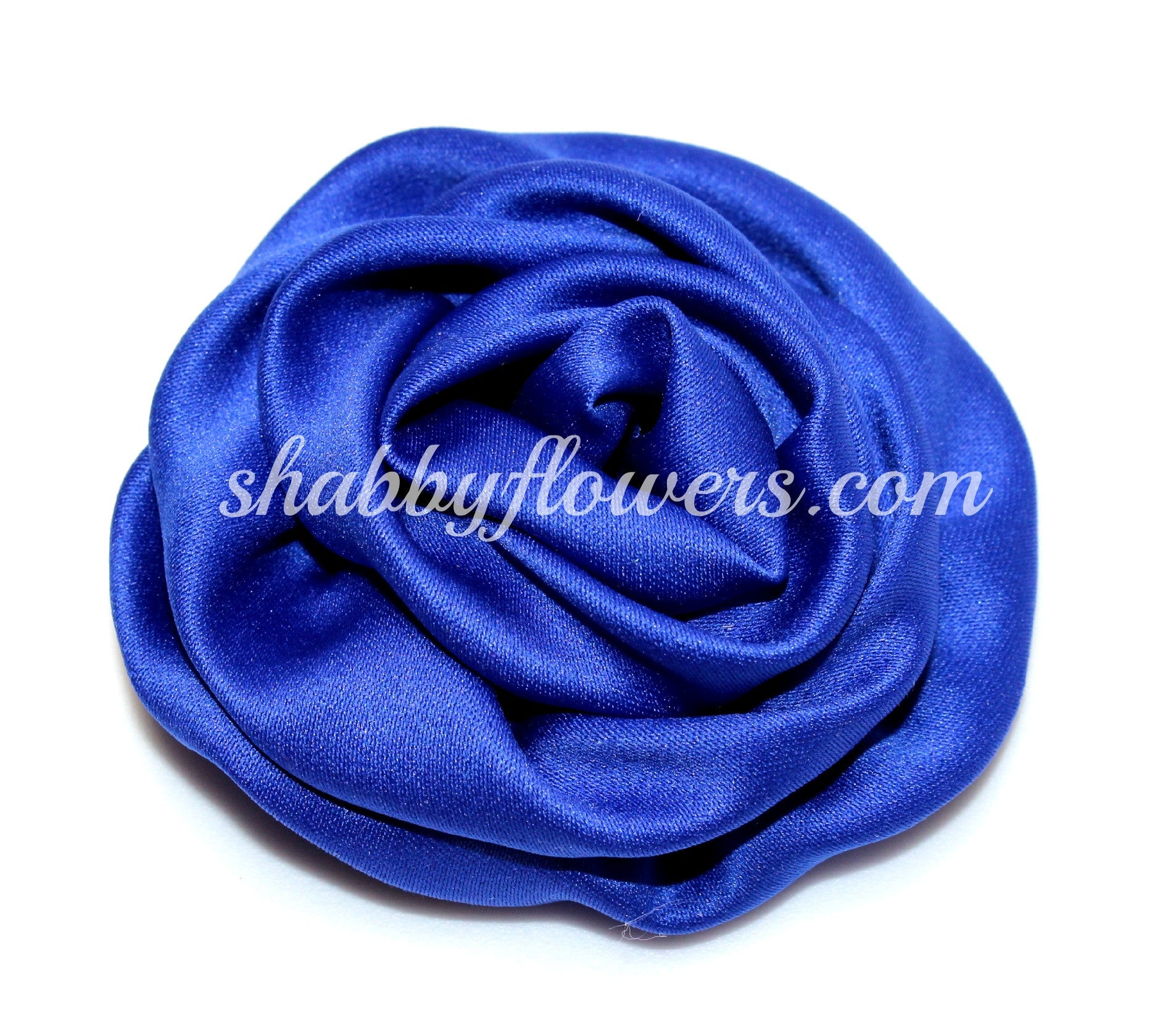 Ruffle Rosette - Royal Blue - shabbyflowers.com