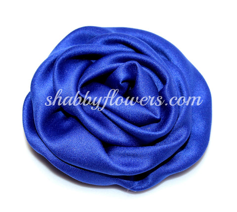 Ruffle Rosette - Royal Blue