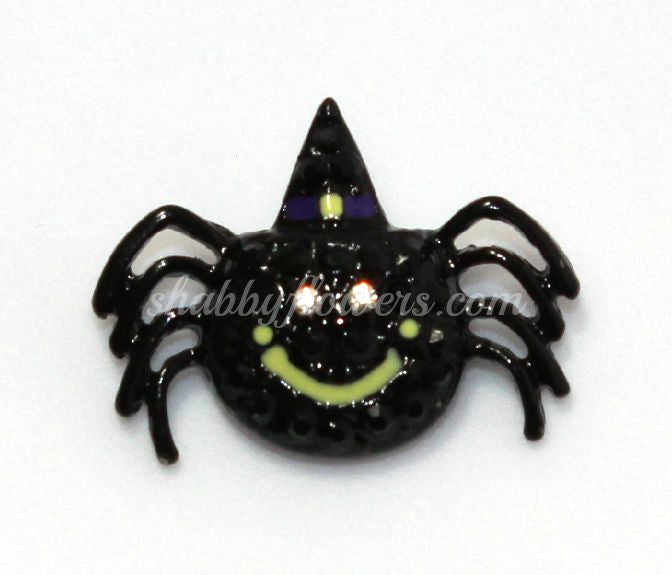 Embellishment - Happy Spider Rhinestone Slider - shabbyflowers.com