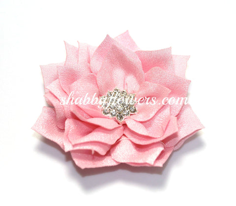 Lotus Rhinestone Flower - Light Pink