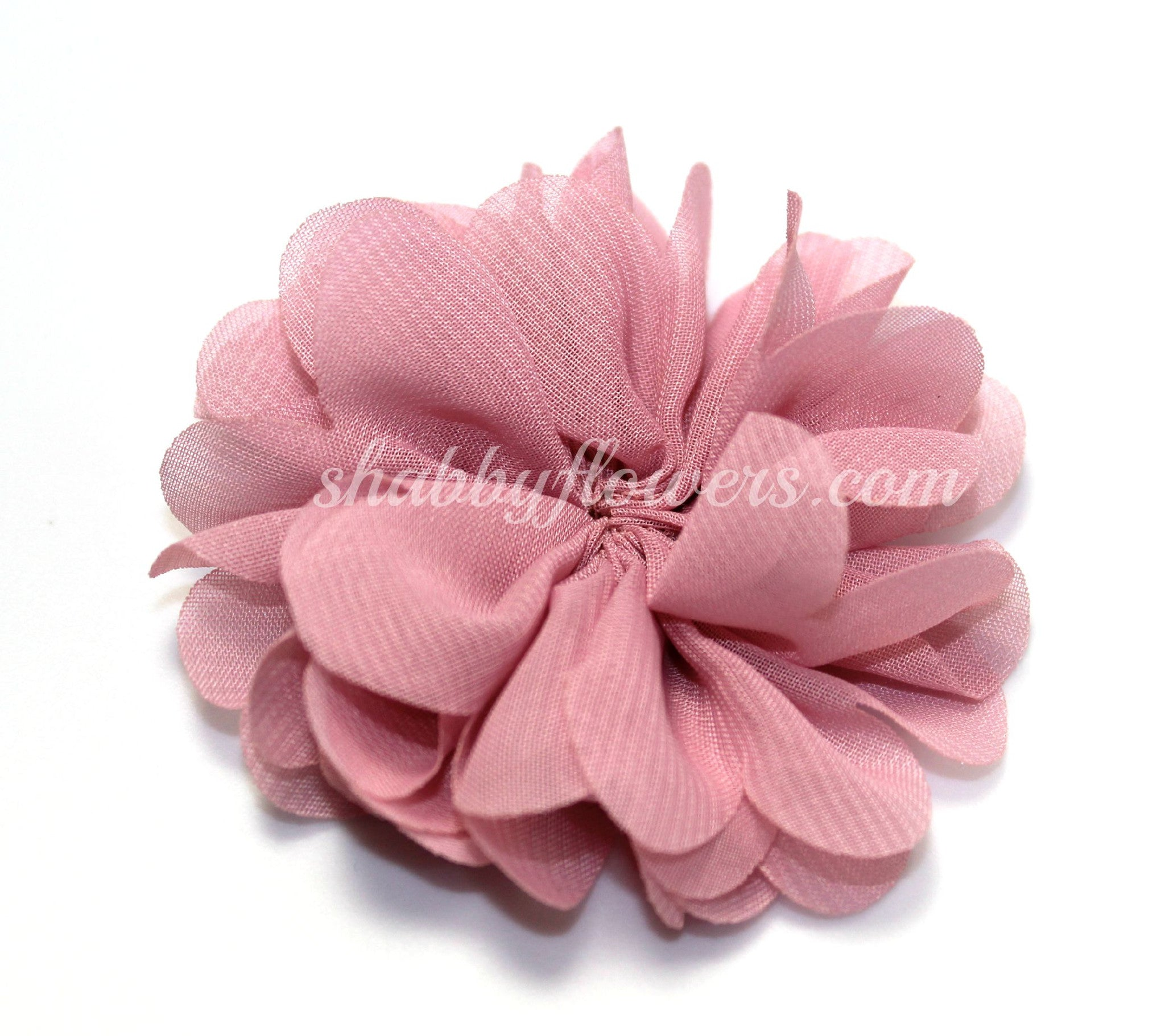 Scalloped Flower - Vintage Pink - shabbyflowers.com