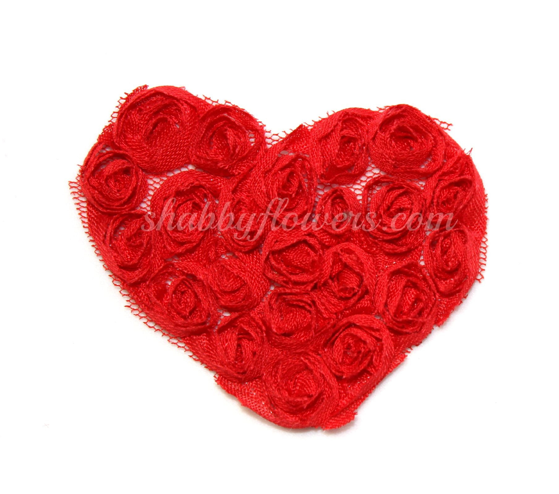 Small Shabby Heart - Red - shabbyflowers.com