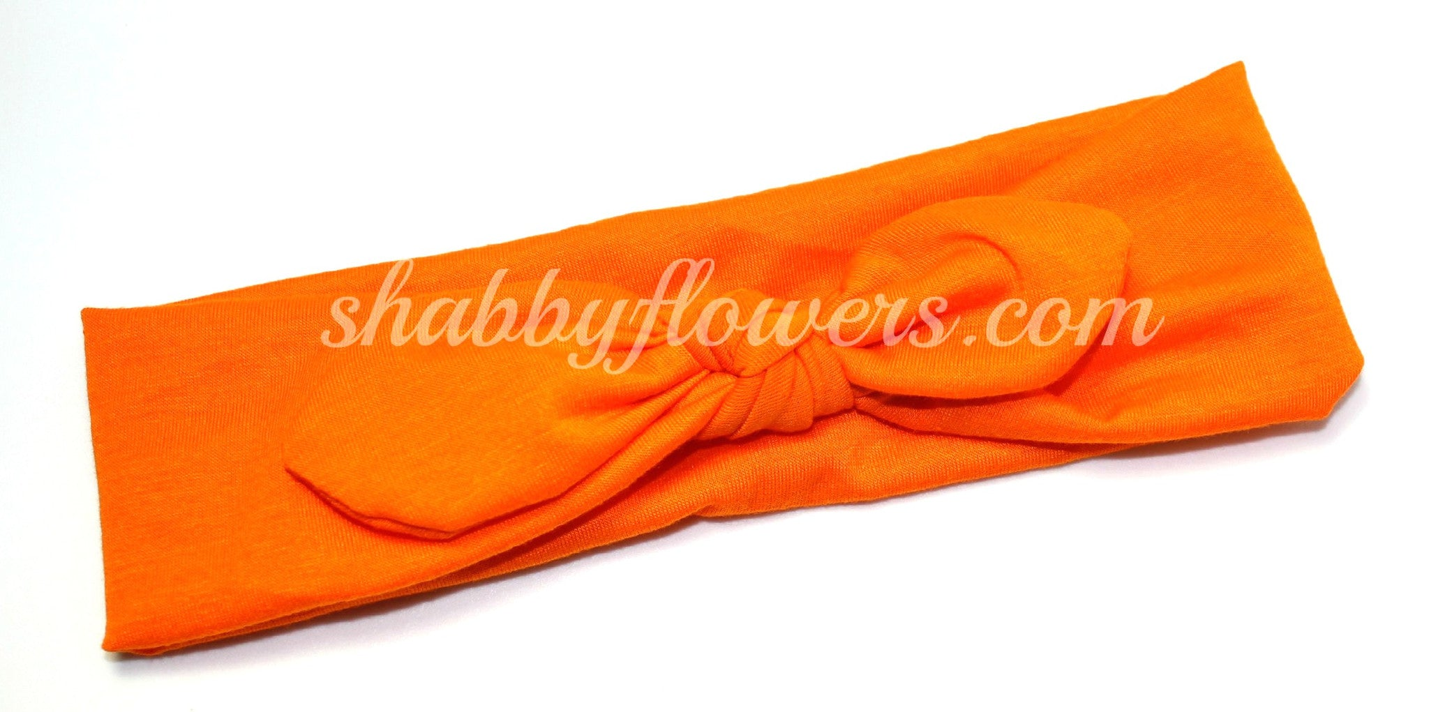 Knot Headband- Orange - Small - shabbyflowers.com