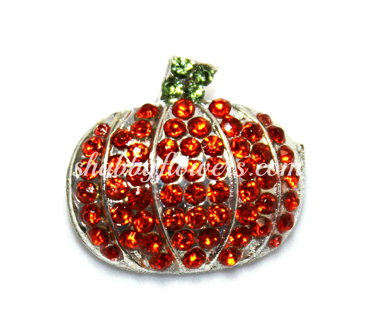 Embellishment - Pumpkin Slider Rhinestone Slider - shabbyflowers.com