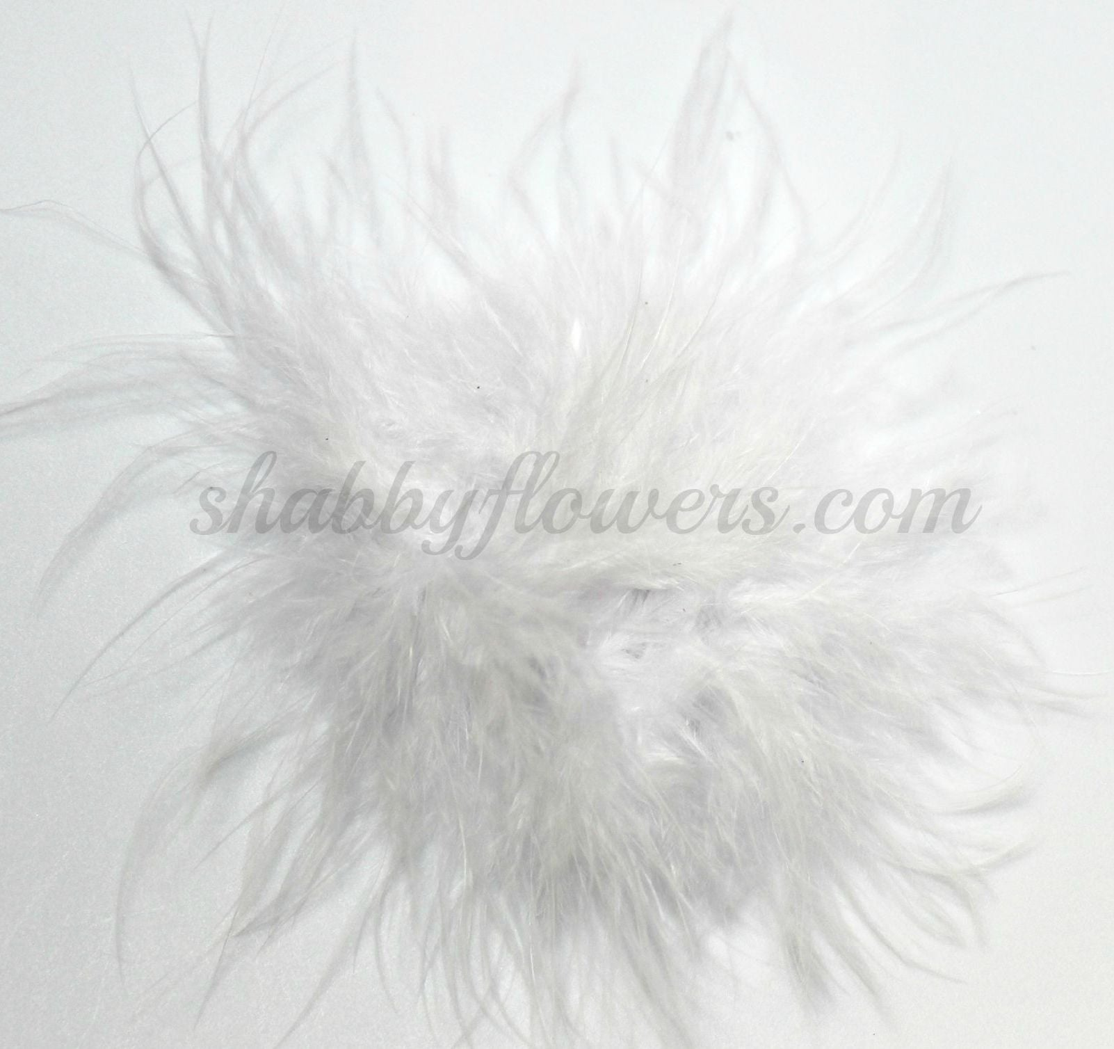 Marabou Feather Puff - White - shabbyflowers.com