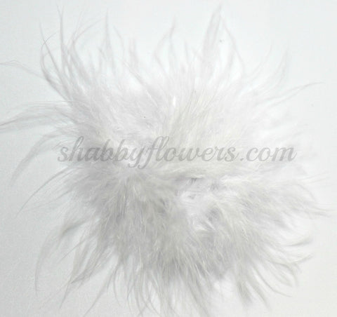 Marabou Feather Puff - White