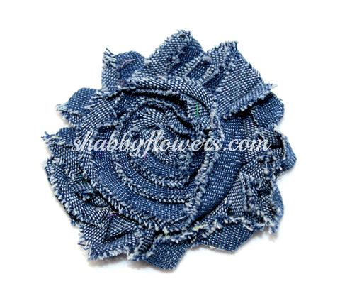 Shabby Chiffon Flower - Denim
