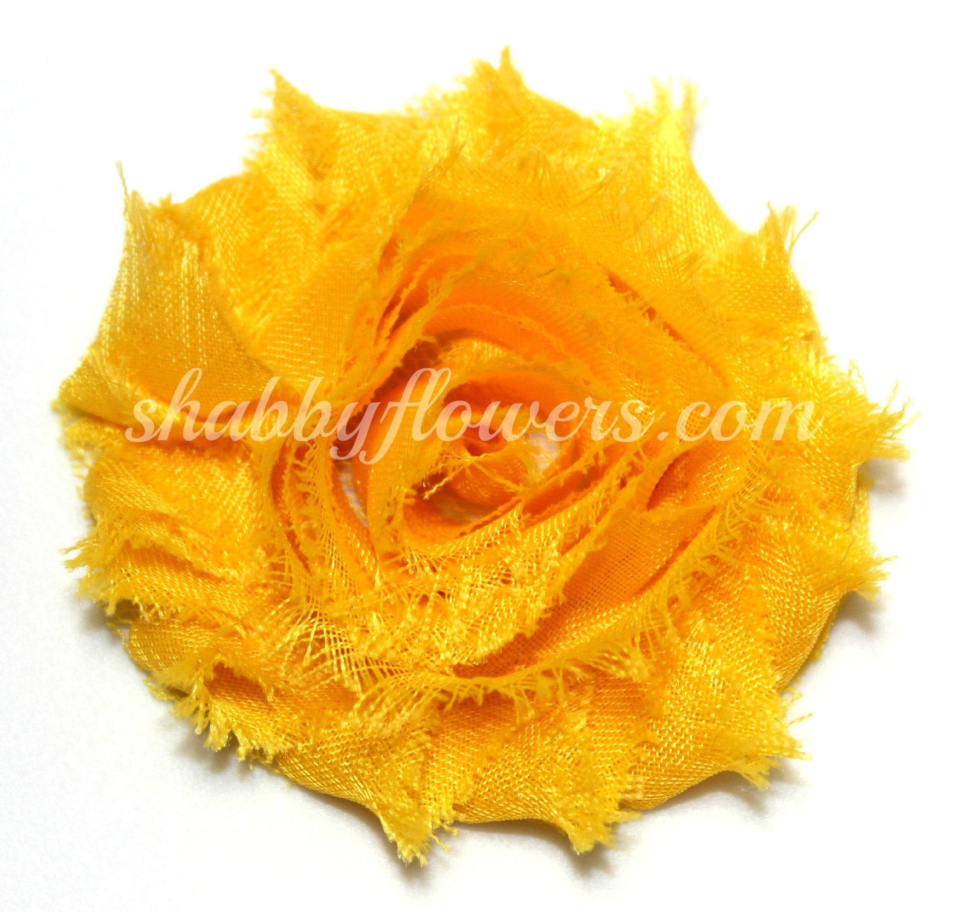 Shabby Flower - Yellow Gold - shabbyflowers.com