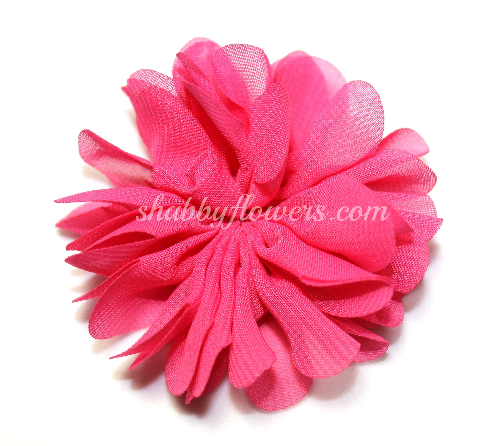 Scalloped Flower - Hot Pink