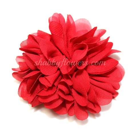 Scalloped Flower - Red