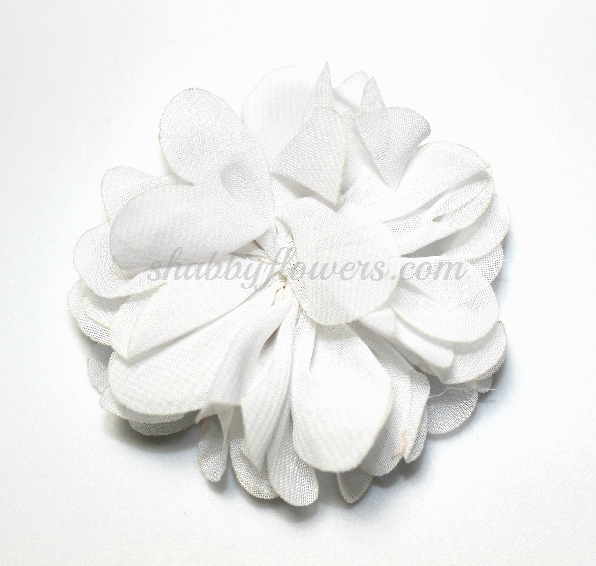 Scalloped Flower - White - shabbyflowers.com