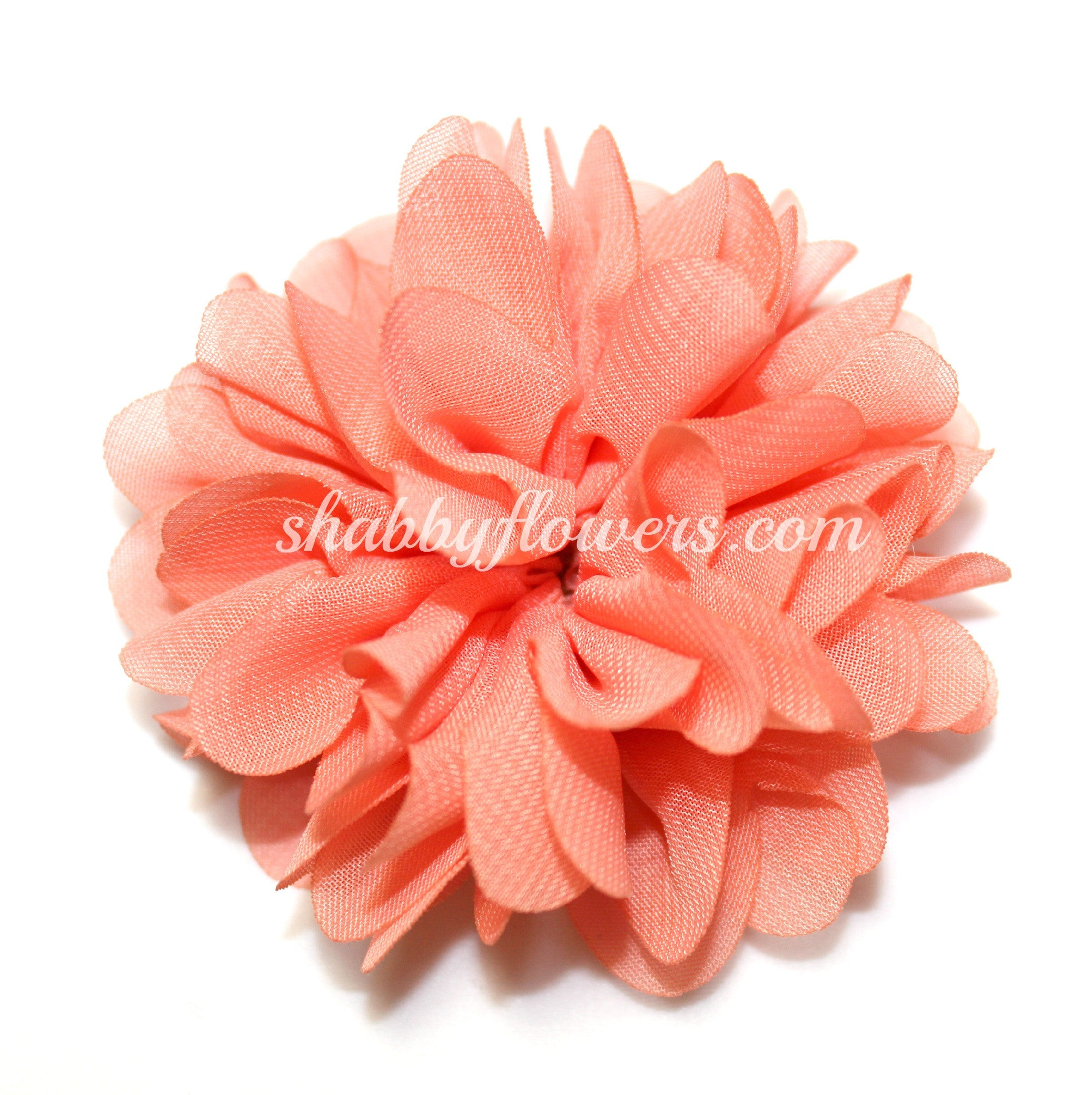 Scalloped Flower - Coral - shabbyflowers.com