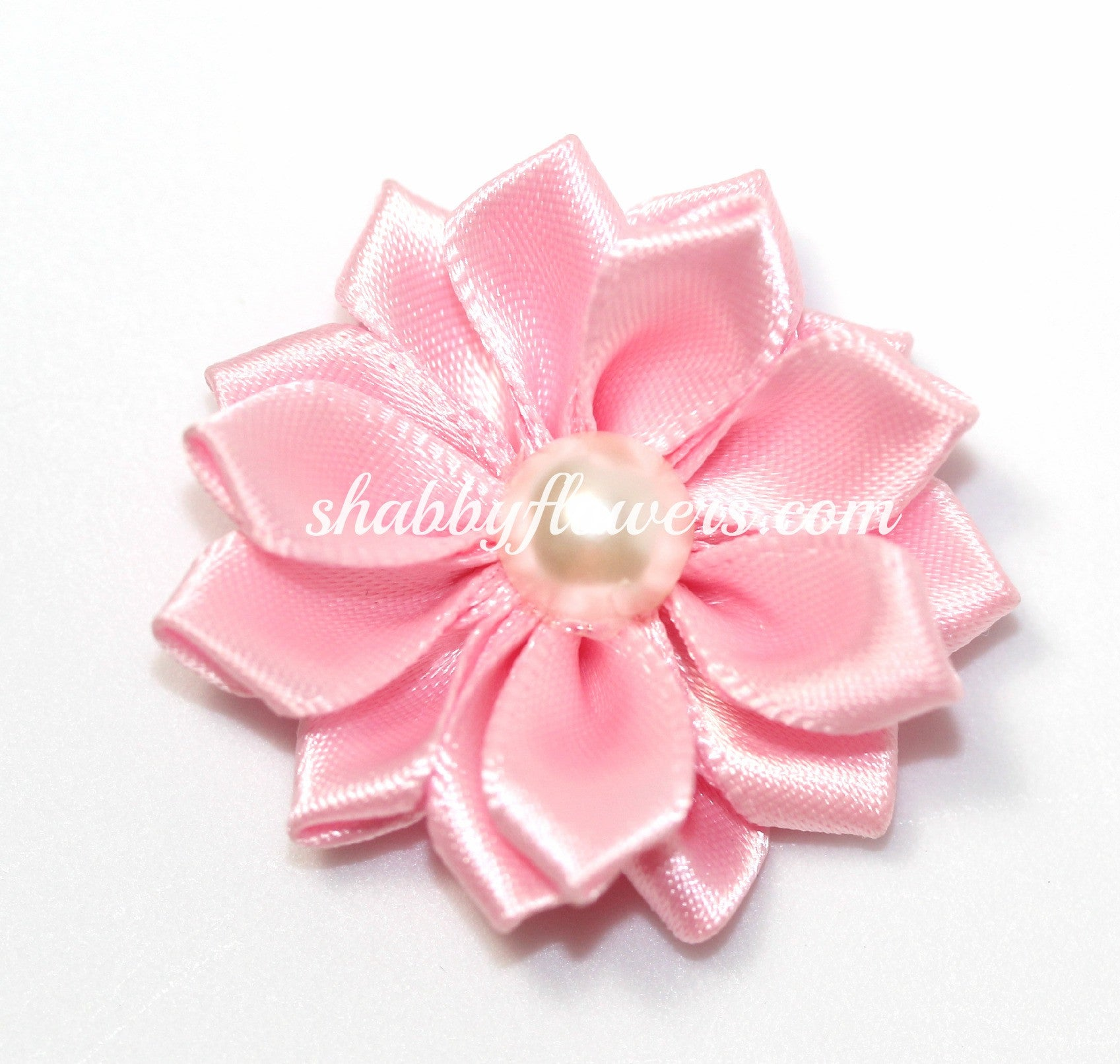 Satin Pearl Flower- Light Pink - shabbyflowers.com
