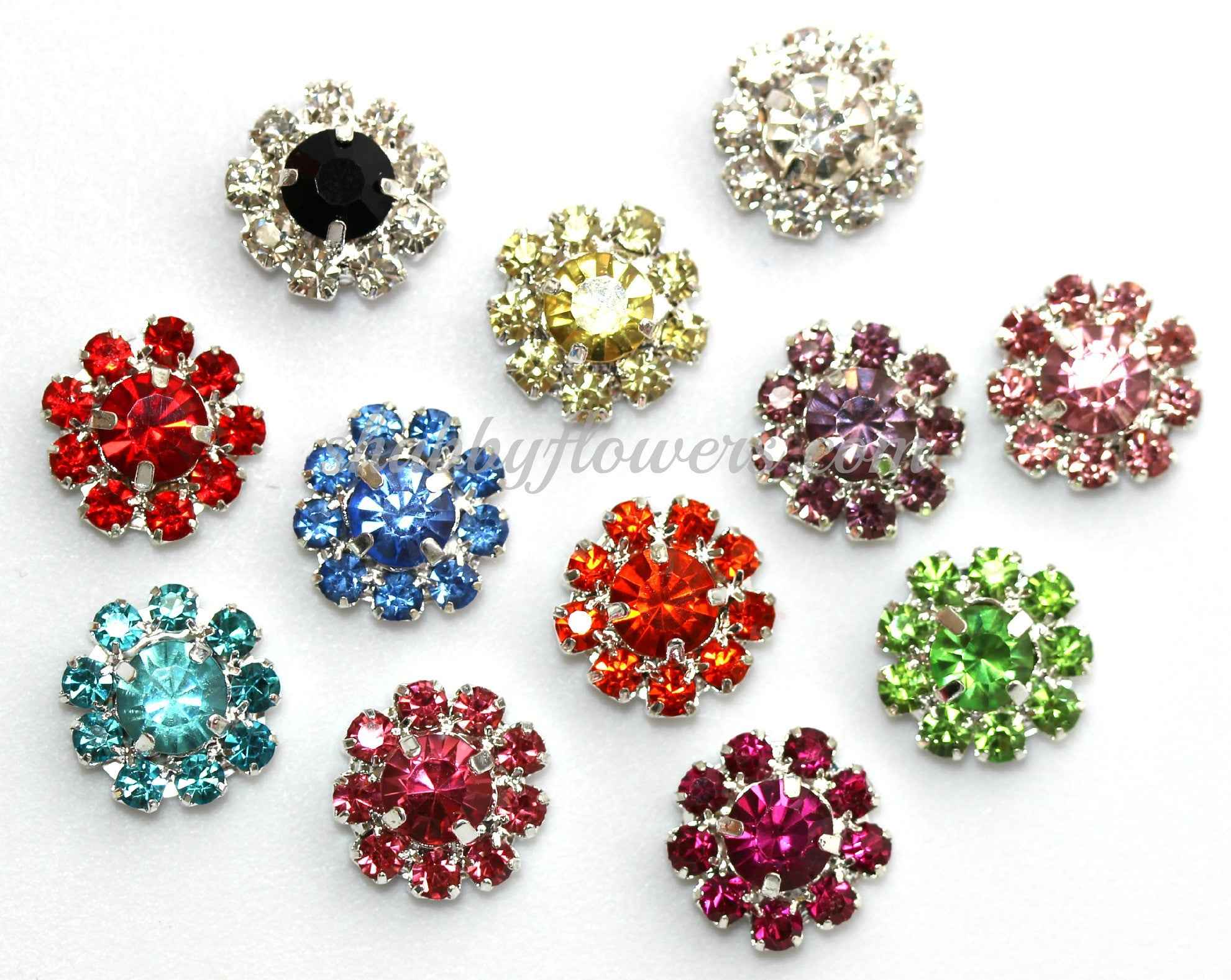 Embellishment - Small Rhinestone Grab Bag (7 colors) - shabbyflowers.com