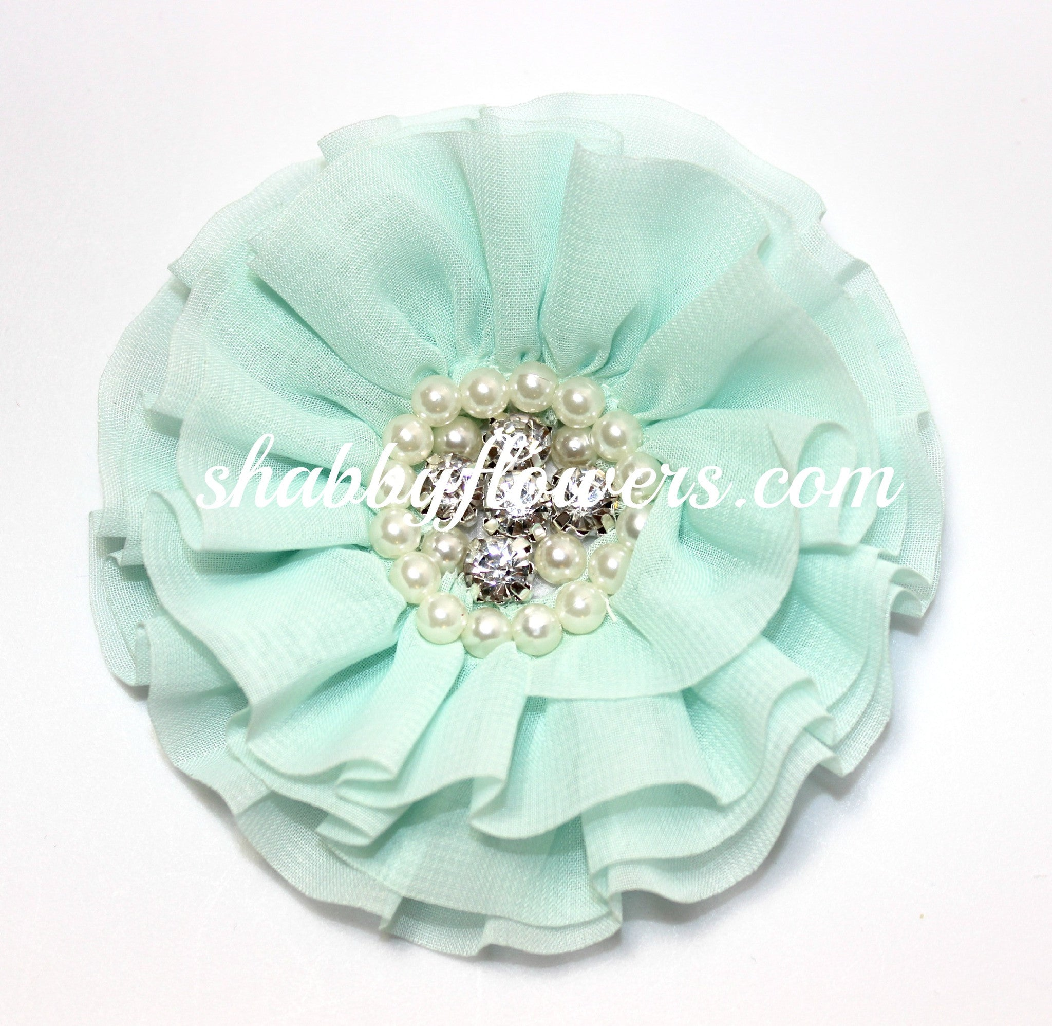 Jeweled Flower - Mint - shabbyflowers.com
