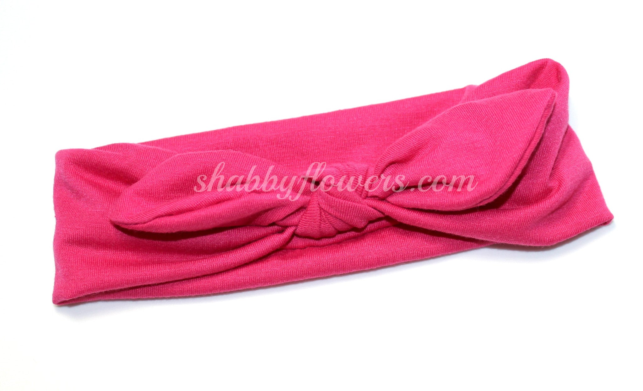 Knot Headband in Fuchsia- Small - shabbyflowers.com