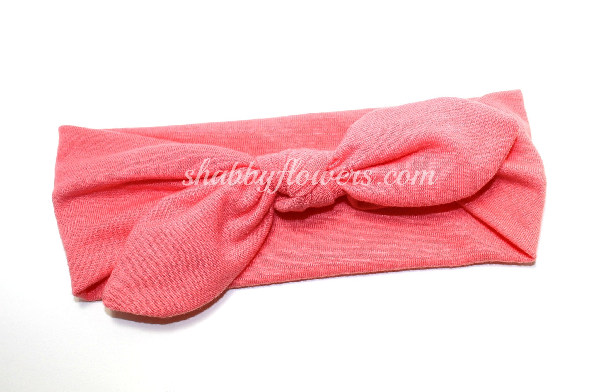 Knot Headband in Light Coral- Small - shabbyflowers.com