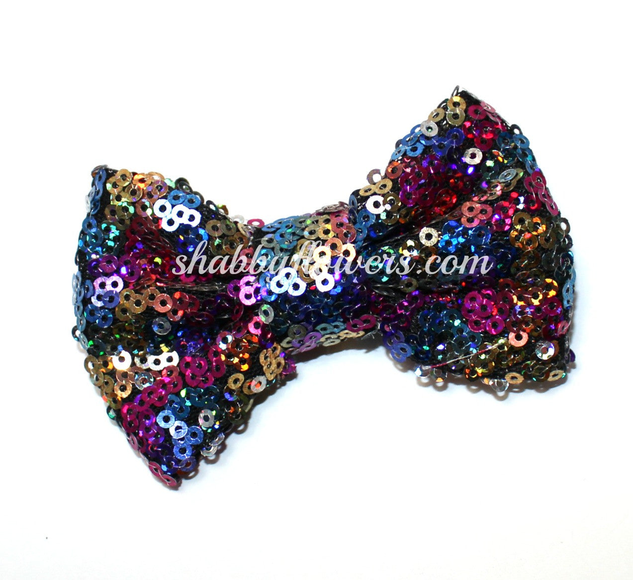 Medium Sequin Bow - Multicolor - shabbyflowers.com