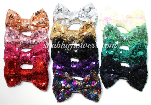 Medium Sequin Bow Pack of 15