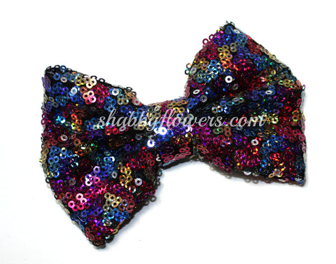 Large Sequin Bow - Multicolor