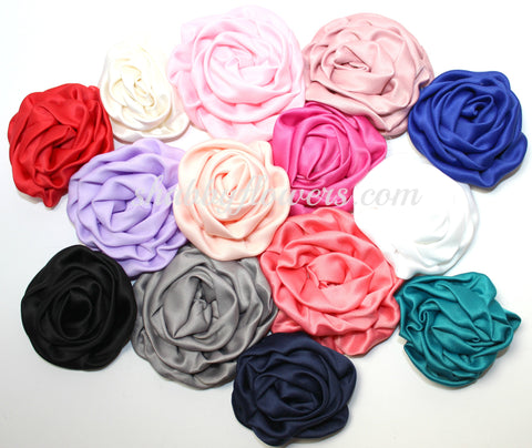 Ruffle Rosette Flower Pack of 12