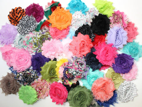 Grab Bag - Shabby Flowers (40 Flowers)