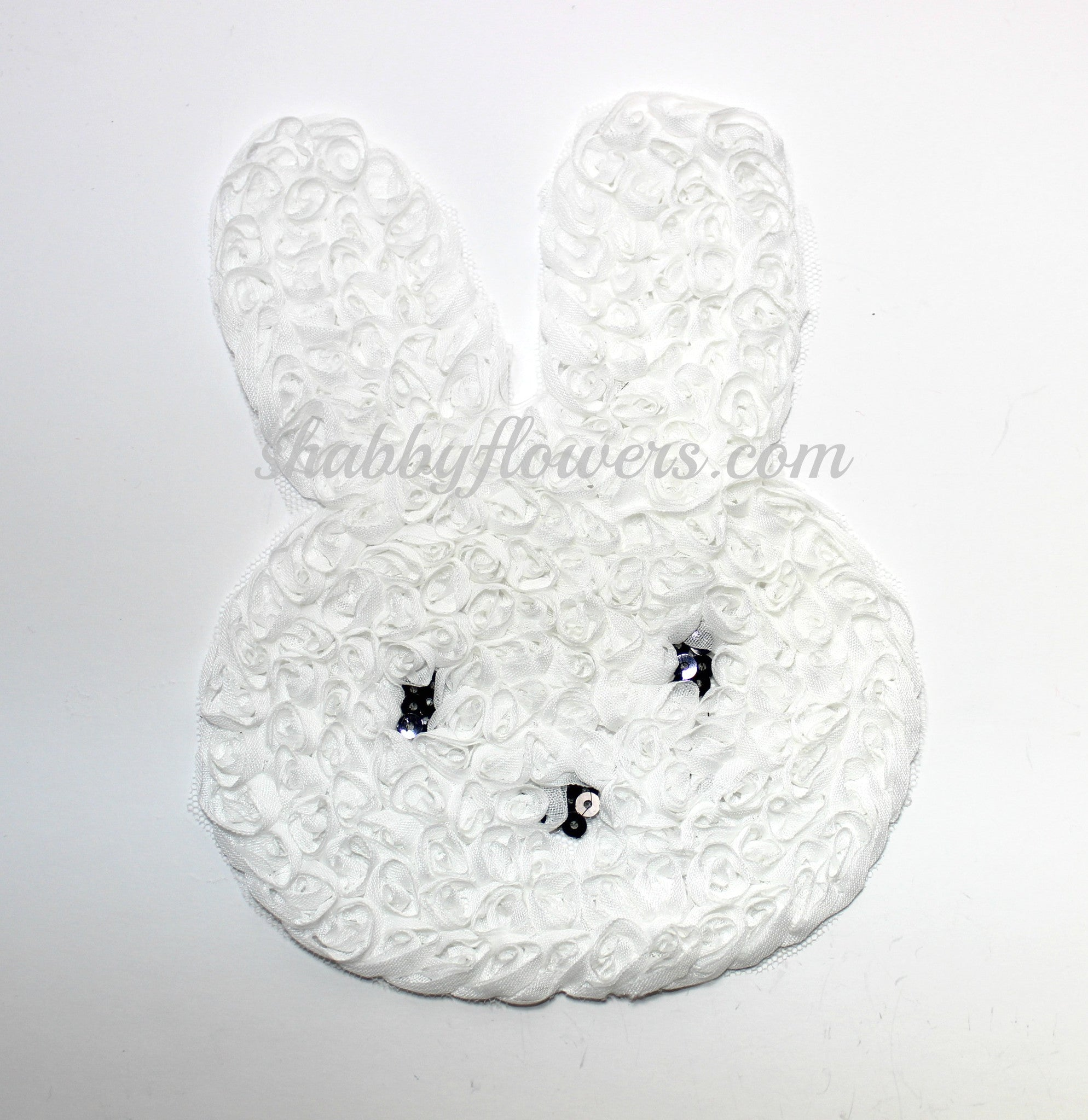 Large Shabby Bunny Applique - shabbyflowers.com