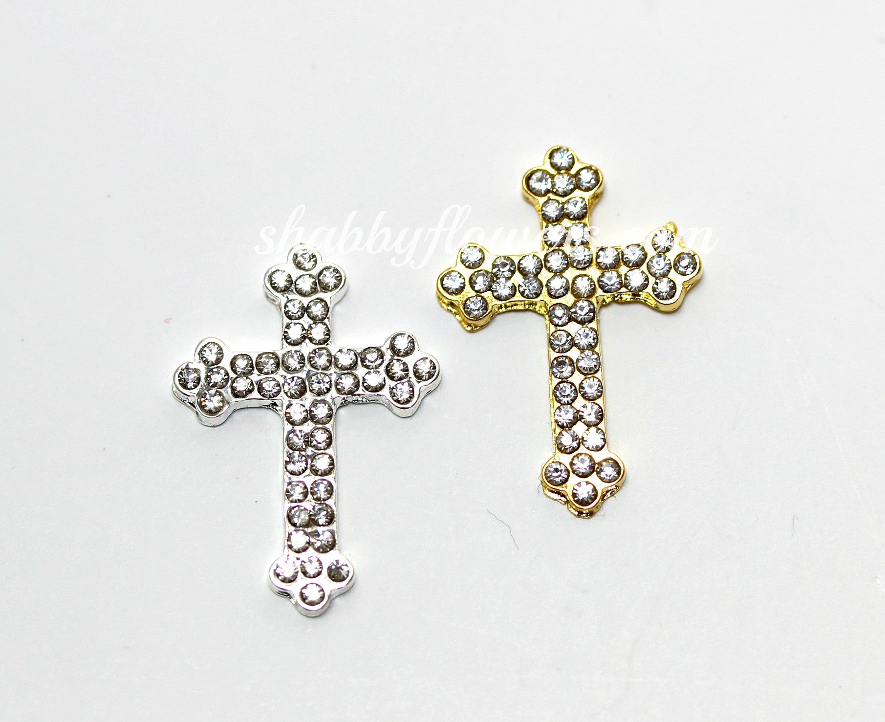 Embellishement - Rhinestone Cross Rhinestone - Choose your color - shabbyflowers.com