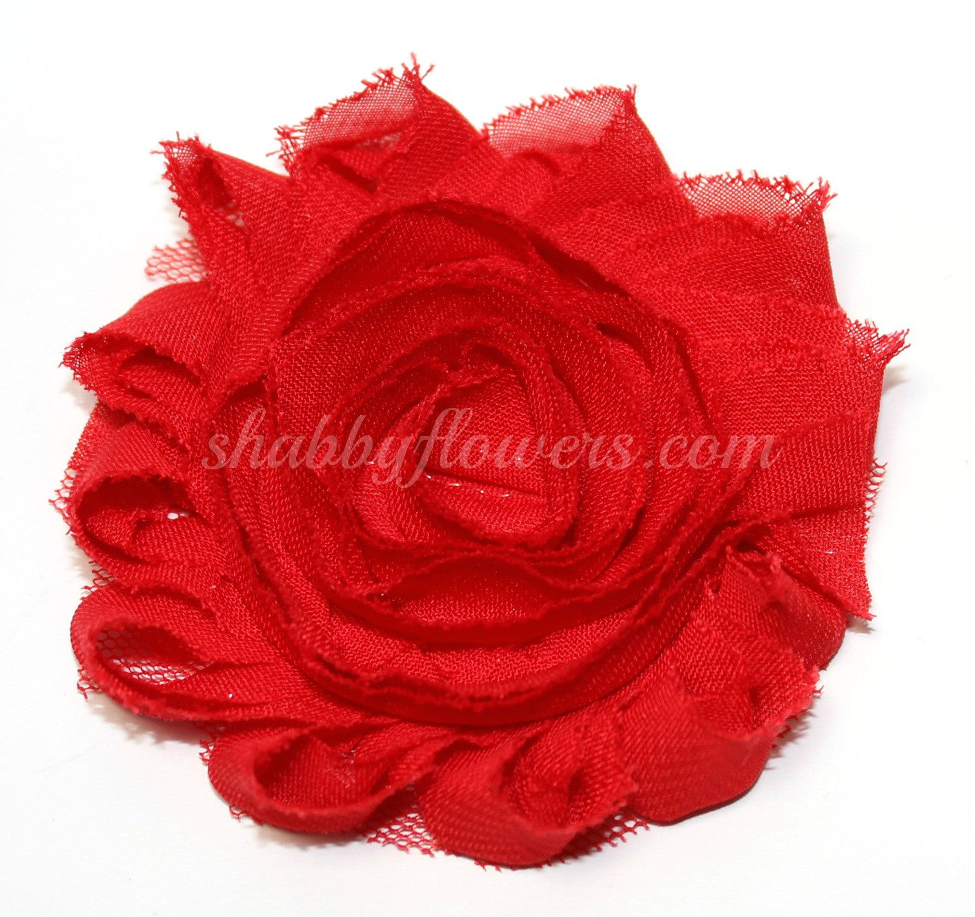 Shabby Flower - Red - shabbyflowers.com