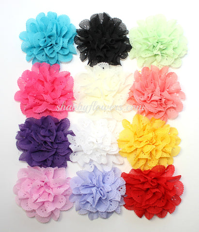 Eyelet Flower Pack of 12